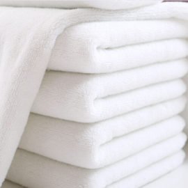 100% Cotton Terry Towel White